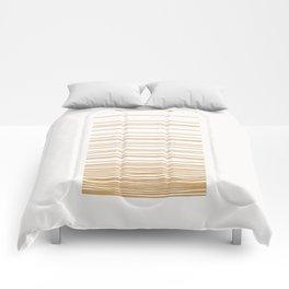 Linear Gradation - Caramel Comforters