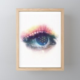 Flower Of Life (Cosmic Vision) Framed Mini Art Print