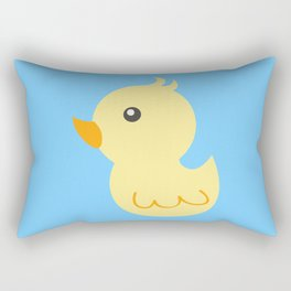 Yellow rubber ducks illustration Rectangular Pillow