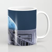 house Mugs featuring Once in a blue moon by Donuts