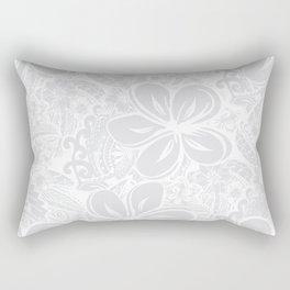 Maui Polynesian Silver Wedding Rectangular Pillow