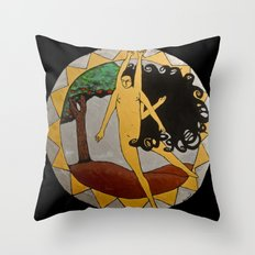 Kali Dancing Throw Pillow