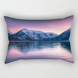 Sunset over twin lakes Rectangular Pillow