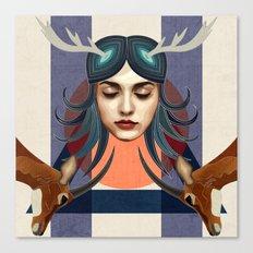 Antelope Girl Canvas Print