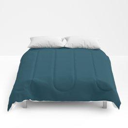 Christmas Winter Night Blue Comforters