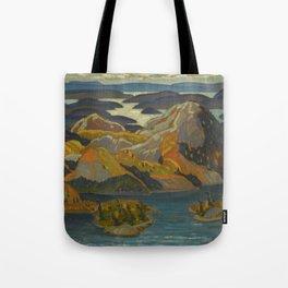 Canadian Landscape Oil Painting Franklin Carmichael Art Nouveau Post-Impressionism Grace Lake 1931 Tote Bag