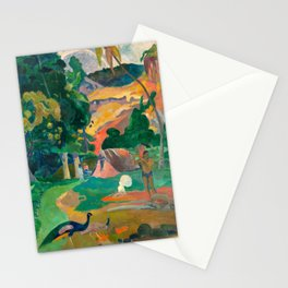 Paul Gauguin Matamoe, Landscape with Peacocks Stationery Cards