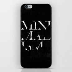 Minimalism iPhone & iPod Skin