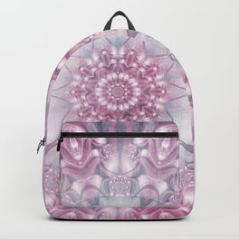 Dreams Mandala in Pink, Grey, Purple and White Backpack