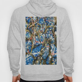 Blue Paint Drip Pollock Stones Hoody