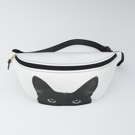 Sneaky Black Cat Fanny Pack