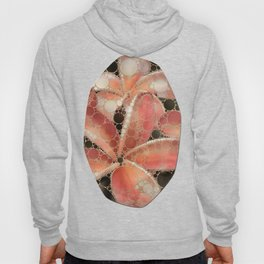 Percolated Tropical Flowers Hoody