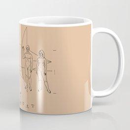 Nasa Pioneer Space Craft Plaque Alien Message Coffee Mug