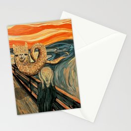 Funny Alpaca Loch Ness Monster The Scream Mashup Cryptid Stationery Cards