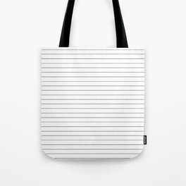White Black Lines Minimalist Tote Bag