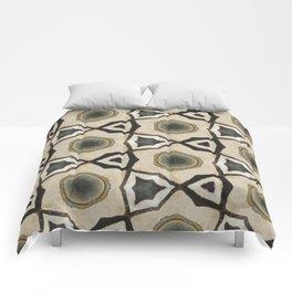 Tan Triangle Geometric Comforters