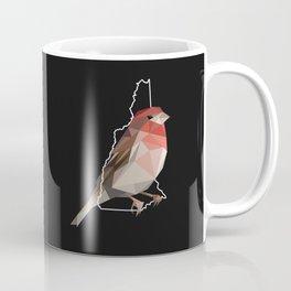 New Hampshire – Purple Finch (Black) Coffee Mug