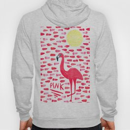 Pink Pretty Flamingo Pattern Hoody
