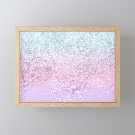Unicorn Girls Glitter #4 (2019 Version) #shiny #pastel #decor #art #society6 Framed Mini Art Print