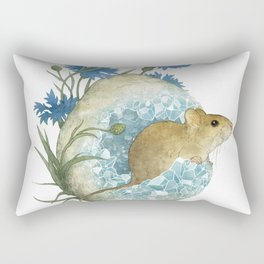 Field Mouse and Celestite Geode Rectangular Pillow