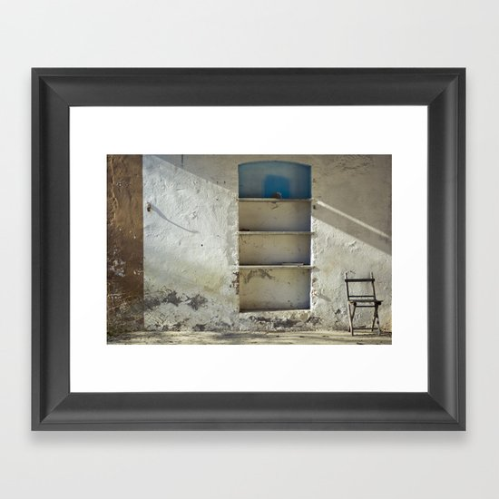 Lonely Chairs #2 Framed Art Print