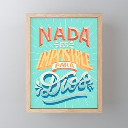 Nothing is impossible to god Framed Mini Art Print