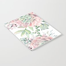 Pink Succulents by Nature Magick Notebook