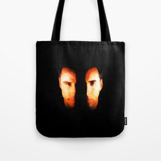 Face Off - Portrait Painting Style Tote Bag