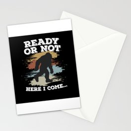 Ready Or Not Here I Come Bigfoot Stationery Cards