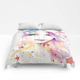 Galaxy Woman Comforters