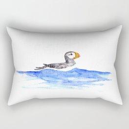 horned puffin Rectangular Pillow
