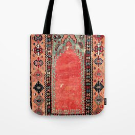 Sivas  Antique Cappadocian Turkish Niche Kilim Print Tote Bag