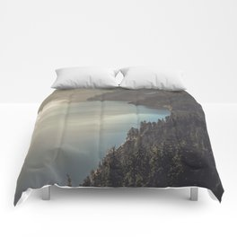 First Light at the Lake II Comforters