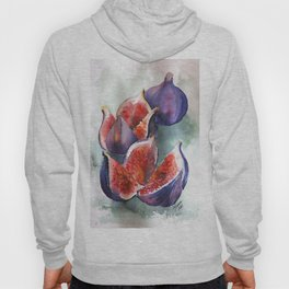 Fig Watercolor Fruits Hoody