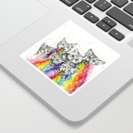 Kittens Puking Rainbows Sticker