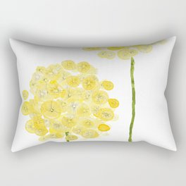 two abstract dandelions watercolor Rectangular Pillow