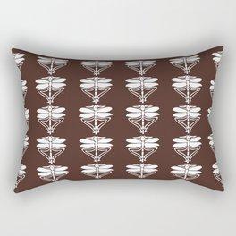 Mahogany Arts and Crafts Dragonflies Rectangular Pillow