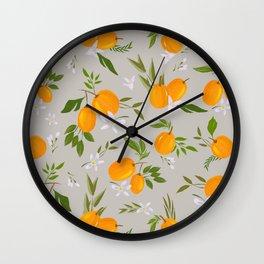 Gray kumquat Wall Clock