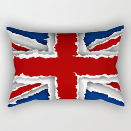 design flag from torn papers with shadows Rectangular Pillow