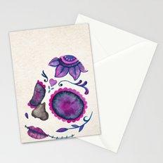 Sugar Skull Head Stationery Cards