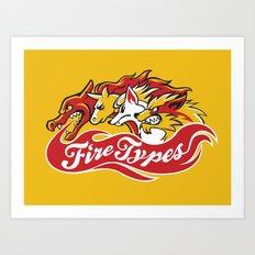 Team Fire Types Art Print
