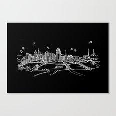 Cincinnati, Ohio City Skyline Canvas Print