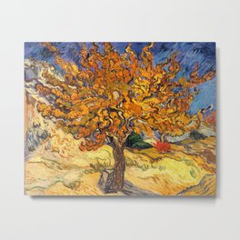 The Mulberry Tree by Vincent van Gogh Metal Print