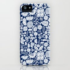 midnight blue garden party iPhone (5, 5s) Slim Case
