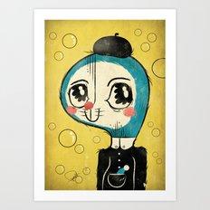 Portrait of Doraemon's Creator, Hiroshi Fujimoto Art Print