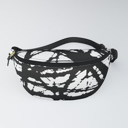 tension, black and white Fanny Pack