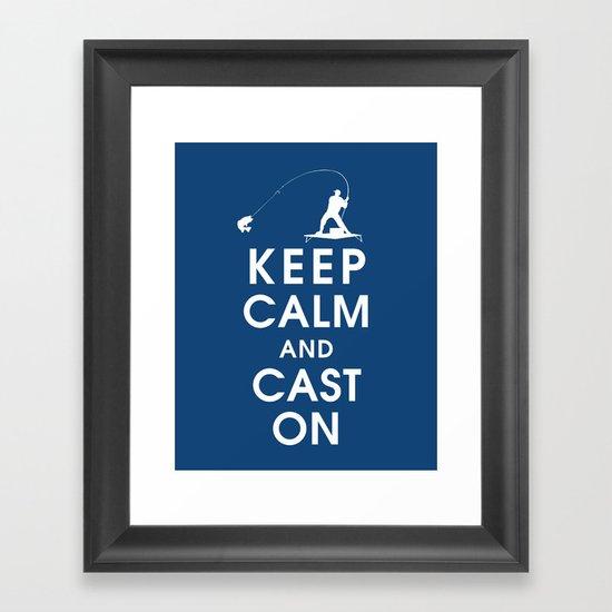 Keep Calm and Cast On Framed Art Print