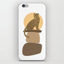 Leopard on the rocks iPhone Skin