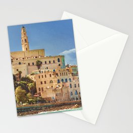 Old Jaffa Cityscape, Israel Stationery Cards