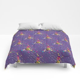 Colorful ornaments with feathers Comforters